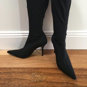 Sexy Stretch Fitted Super-High Stiletto Heel Boots